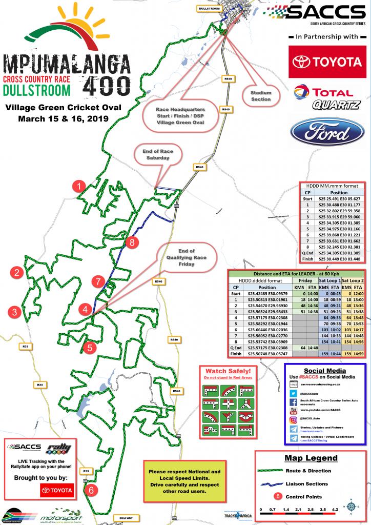 SACCS 2019 - Mpumalanga 400 - Spectator Map