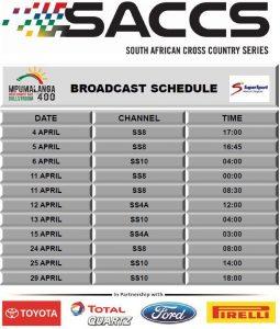 Mpumalanga 400 broadcast schedule