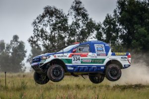 Most successful female navigator in South African rallying