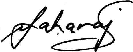 vic maharaj signature